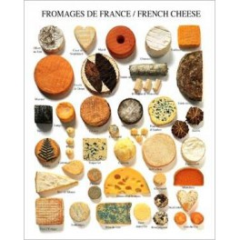 POSTER FROMAGES DE FRANCE/FRENCH CHEESE