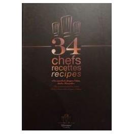 34 CHEFS RECETTES/RECIPES (ANGLAIS/FRANCAIS)
