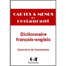 CARTES & MENUS DE RESTAURANT DICTIONNAIRE FRANCAIS ANGLAIS NOUVELLE EDITION