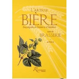 L'ARTICLE BIERE encyclopédie de Diderot et d'Alambert