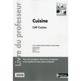 CAP CUISINE - LIVRE DU PROFESSEUR