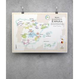 MAPA DE LOS VINOS DE ESPANA (espagnol)