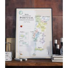 MAPA DOS VINHOS DE PORTUGAL (portugais)