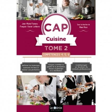 CAP CUISINE TOME 2 COMPETENCES 4, 5, 6