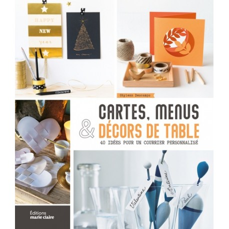 CARTES, MENUS ET DECORS DE TABLE