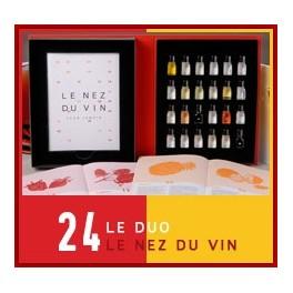LE NEZ DU VIN : DUO VINS ROUGES - VINS BLANCS 24 aromes (FRANCAIS)