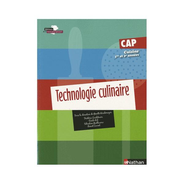 Technologie culinaire cap cuisine 1 re et 2 me ann e for Technologie cuisine