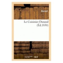 LE CUISINIER DURAND (ed 1830)