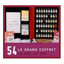 LE NEZ DU VIN / GRAND COFFRET 54 arômes blanc et rouge (FRANCAIS)