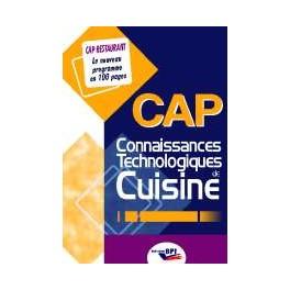 CONNAISSANCES TECHNOLOGIQUES DE CUISINE CAP