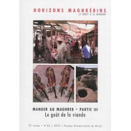 HORIZONS MAGHREBINS MANGER AU MAGHREB PARTIE III