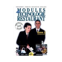 MODULE DE TECHNOLOGIE RESTAURANT VERSION ELEVE TOME 2 ref 1792