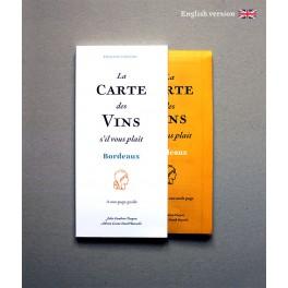 LA CARTE DES VINS S'IL VOUS PLAIT BORDEAUX (anglais)
